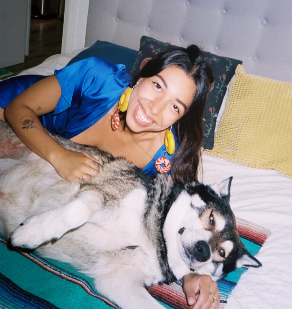 A Girl and Her Dog: Mia and Larry
