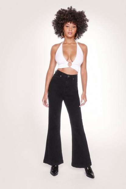 Recycled Cotton High Waisted Flared Jeans