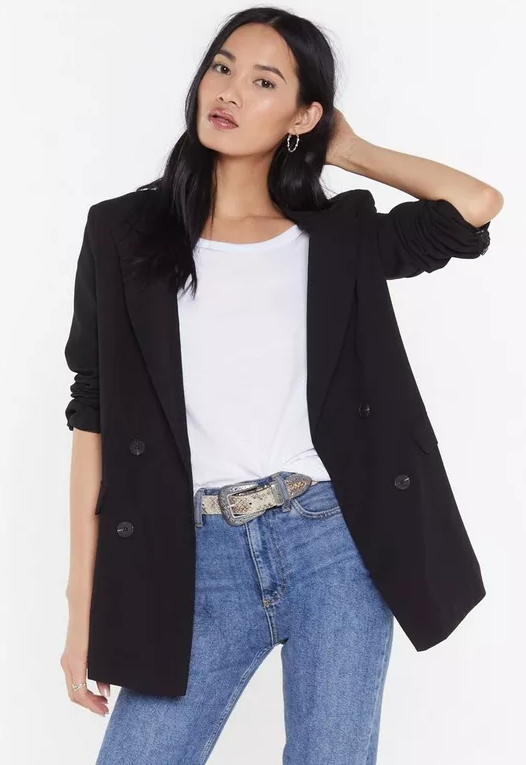 Double Breasted Tailored Blazer