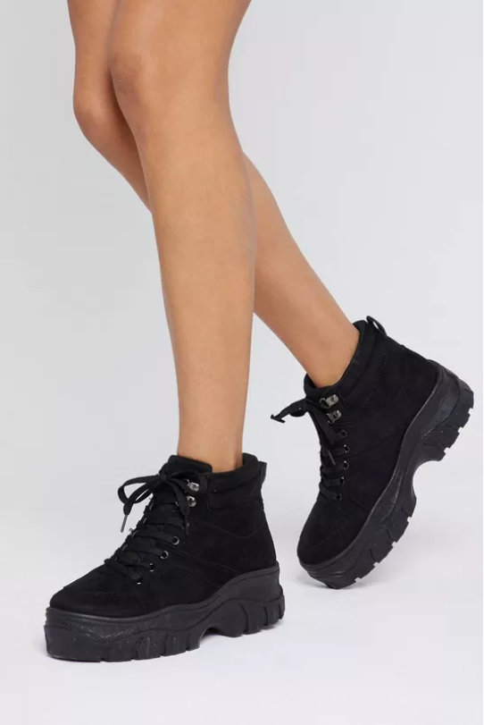 Chunky Lace Up Boot Sneakers