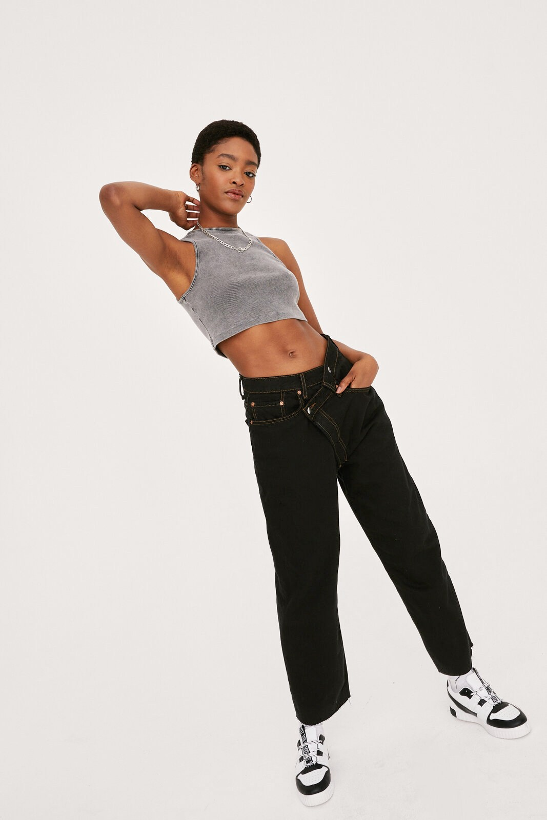 Vintage Straight Leg Cropped Jeans