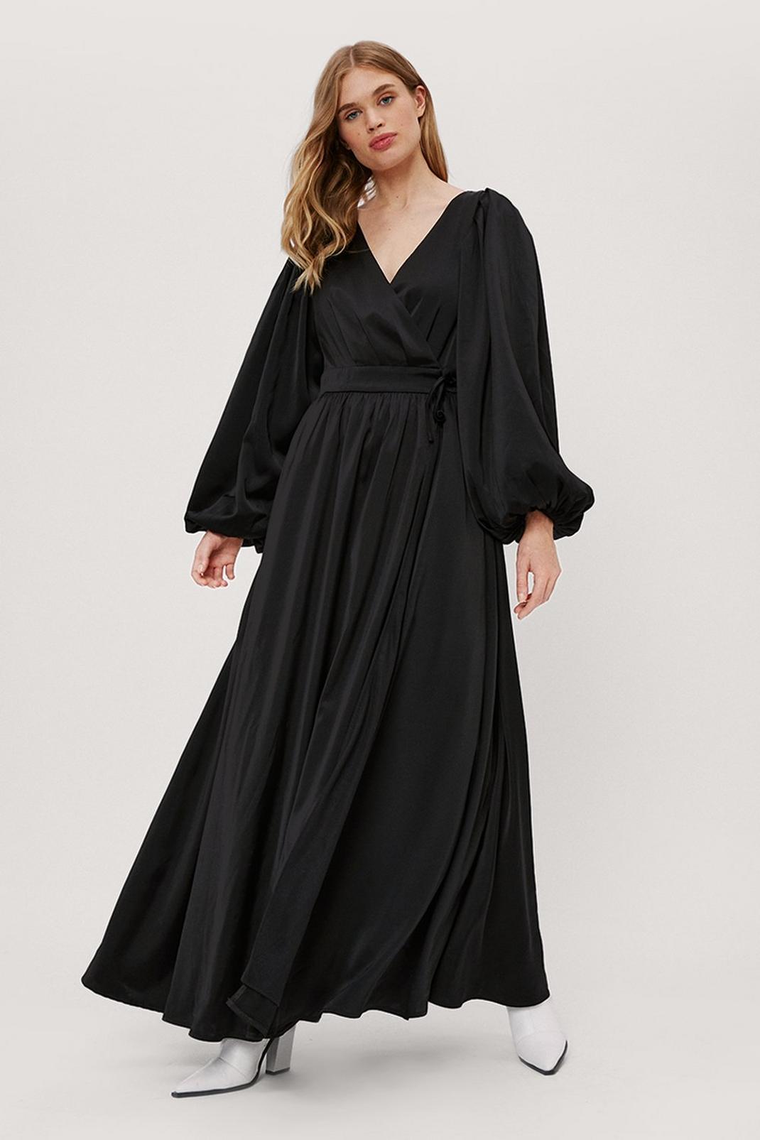 Balloon Sleeve Maxi Dress