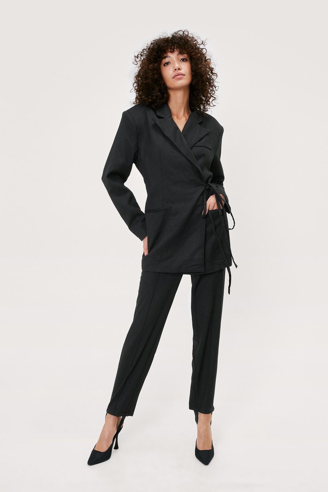 Stirrup Detail Tailored Pants