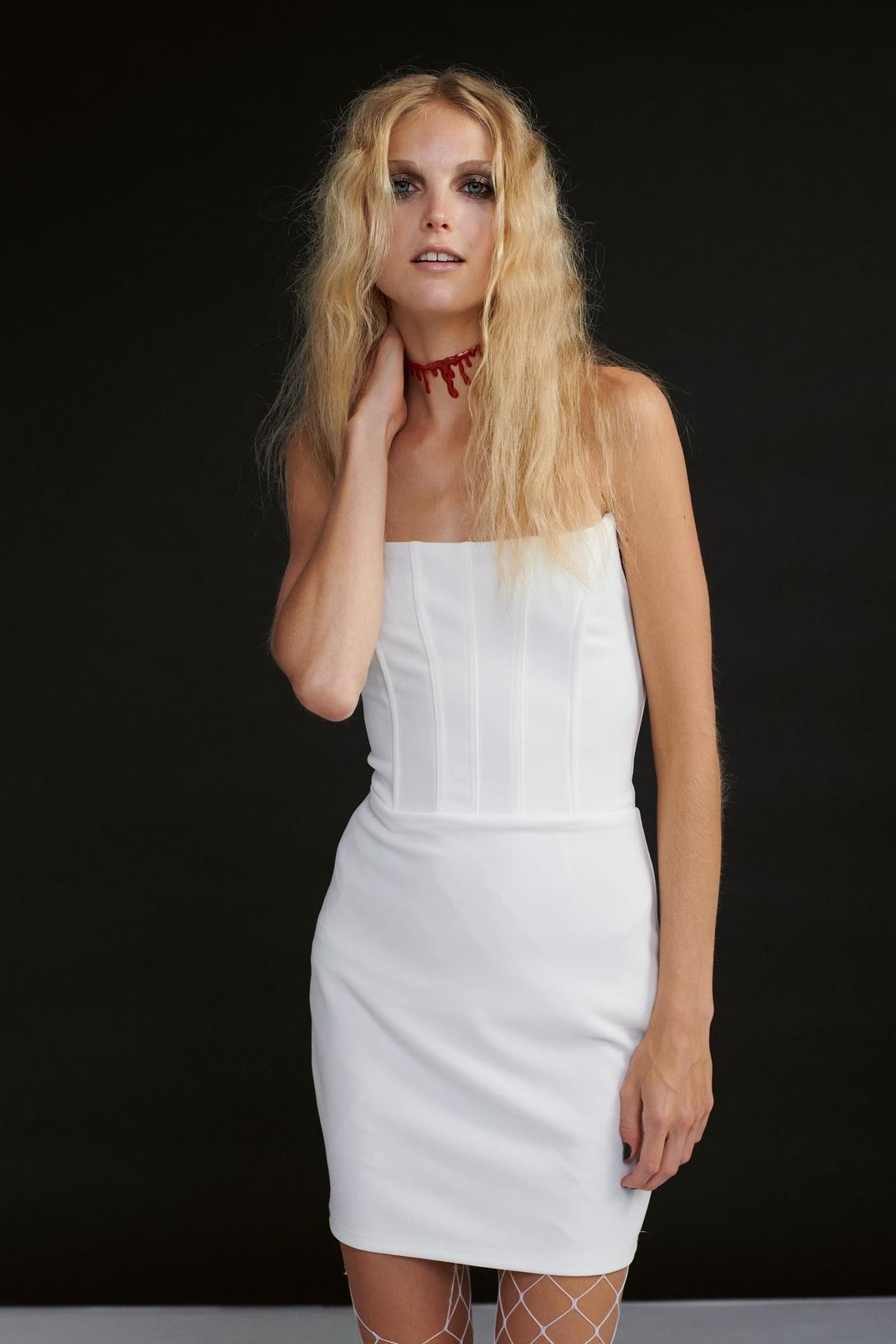 Strapless Corset Mini Dress