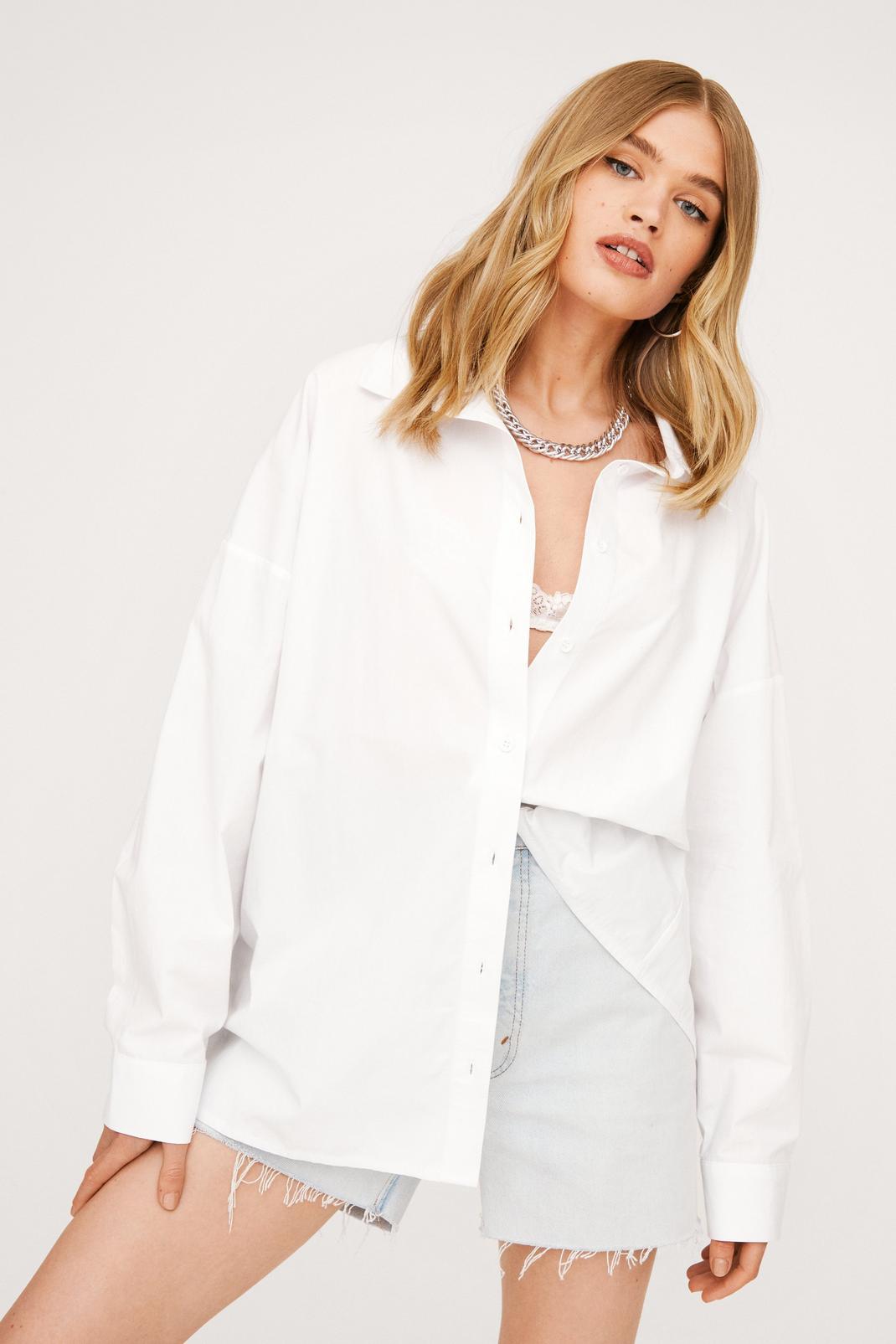 Oversized Cotton White Shirt