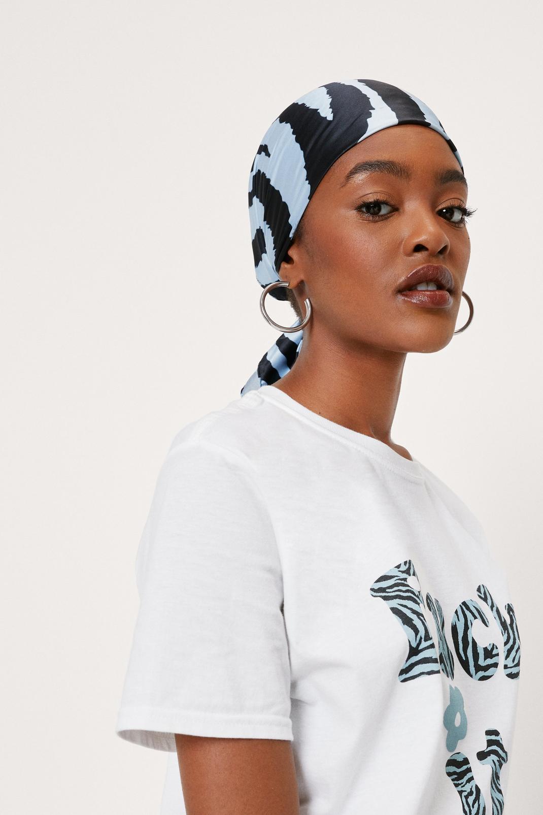FVCK CANCER Zebra Print Headscarf