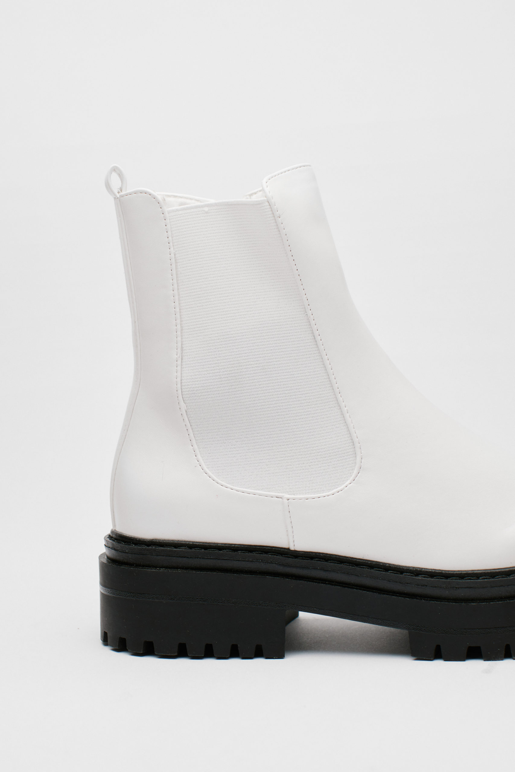 Chunky Platform Faux Leather Chelsea Boots