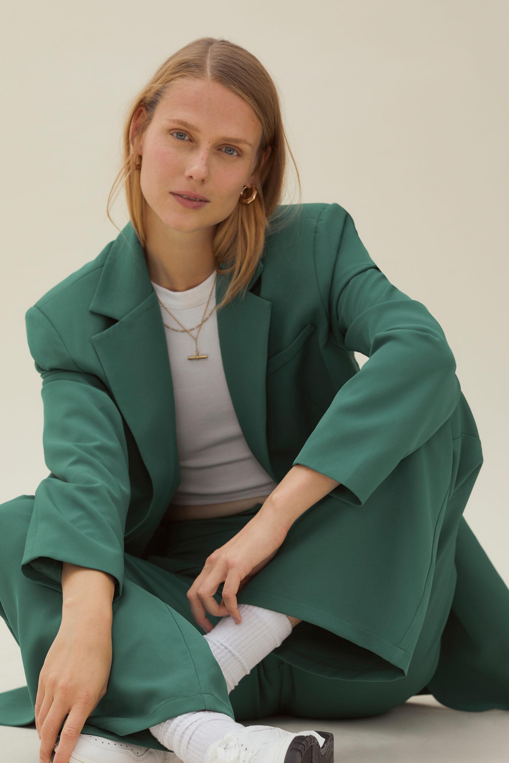Green Tailored Blazer