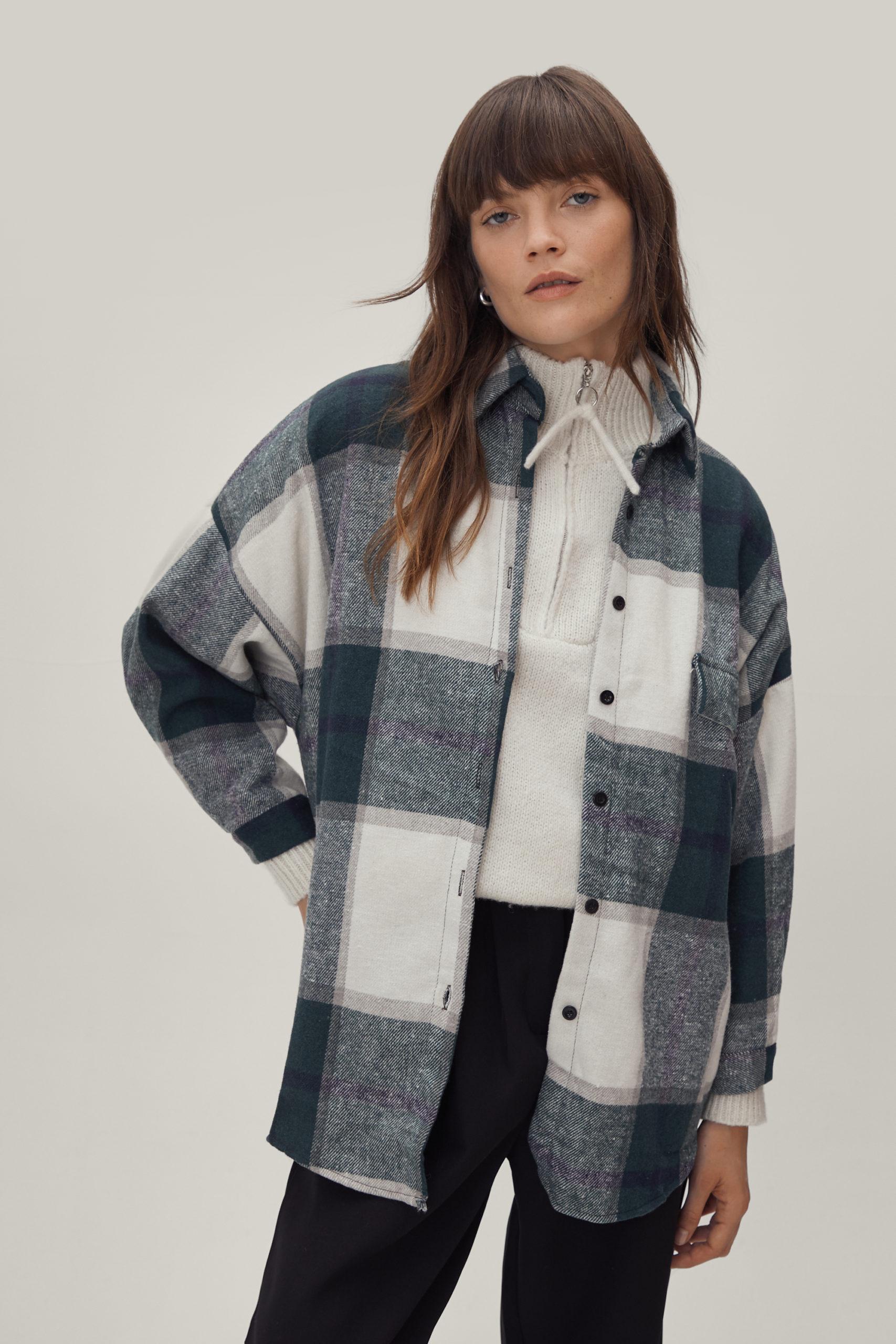 Faux Wool Oversized Shacket