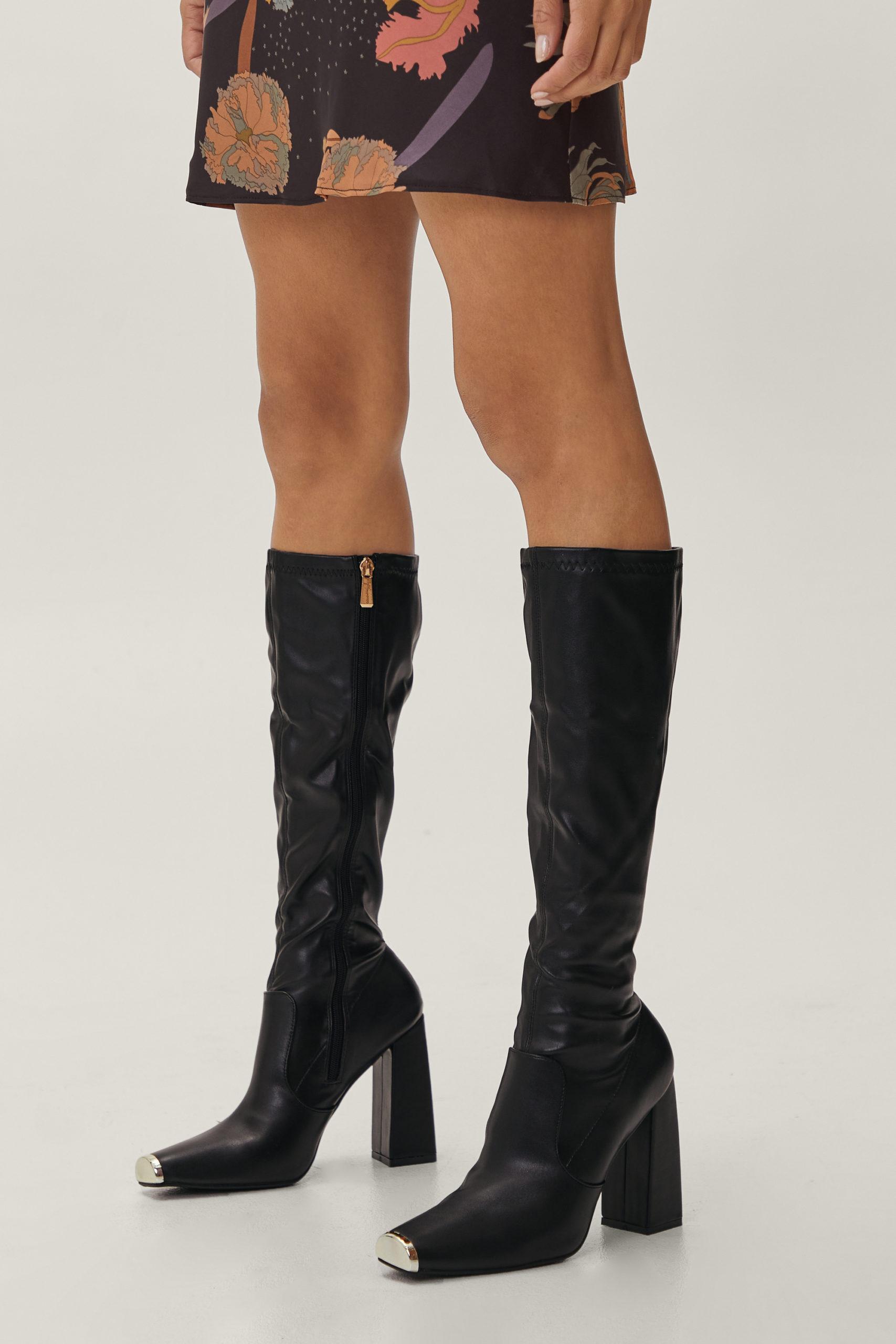 Steel Toe Knee High Boots