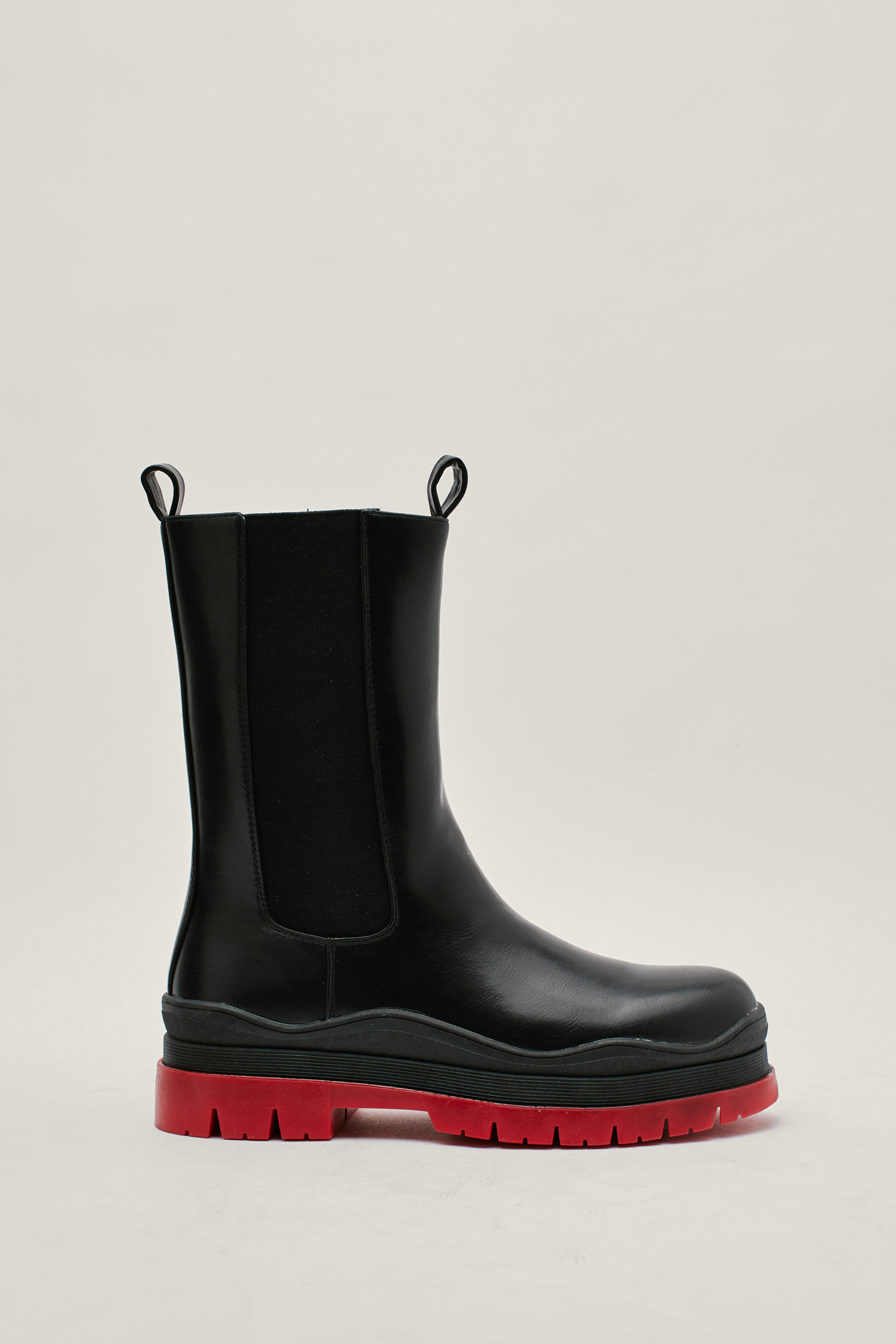 Red Sole High Chelsea Boots
