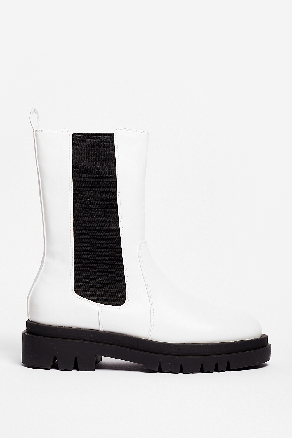 White High Chelsea Boots