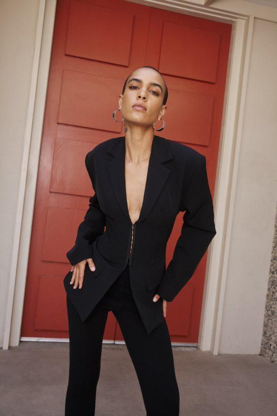 black blazer and pants